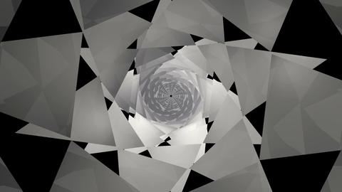 Monochrome Pyramid Kaleidoscope stock footage