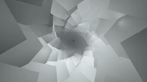 kaleidoscope cube tunnel Stock Video Footage