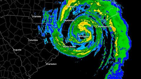 Hurricane Bertha (1996) Landfall Time Lapse Stock Video Footage