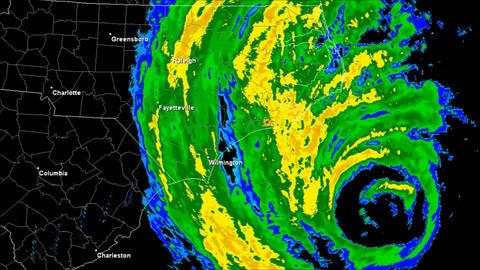 Hurricane Isabel (2003) Landfall Time Lapse Animation