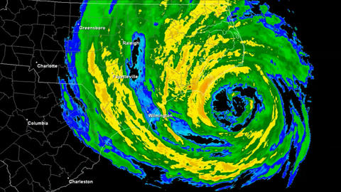 Hurricane Isabel (2003) Landfall Time Lapse Stock Video Footage