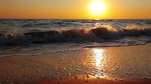 marine sunset Stock Video Footage