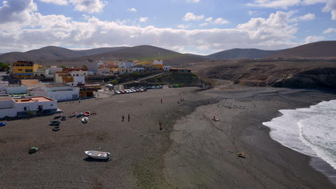 people visit black ajuy beach time lapse 11206 Footage