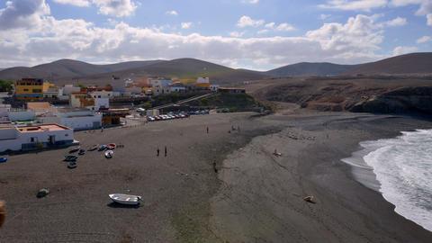 people visit black ajuy beach time lapse 11206 Stock Video Footage