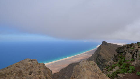 below fuerteventura clouds time lapse 11208 Stock Video Footage