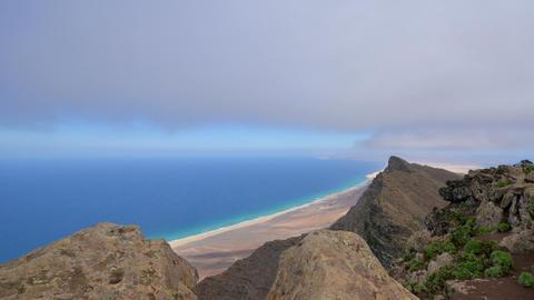 below fuerteventura clouds time lapse 11208 Stock Video Footage
