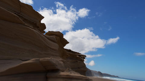 4k UHD pan sandstone to Roque del Morro time 11212 Stock Video Footage
