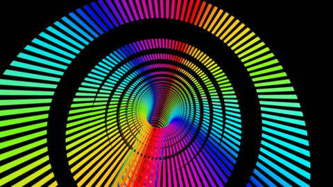 Rainbow Rings Stripe stock footage