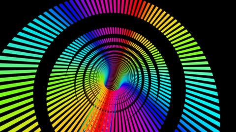 rainbow rings stripe Stock Video Footage