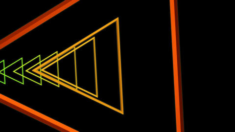 triangle colorful tunnel Stock Video Footage