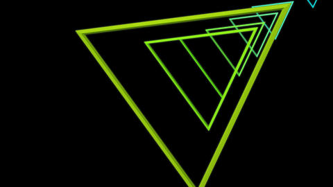 triangle colorful tunnel Animation