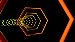 hexagonal outline tunnel Animation