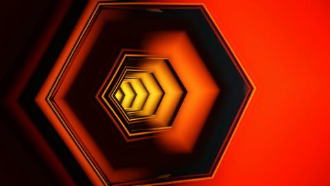 hexa tube tunnel Stock Video Footage