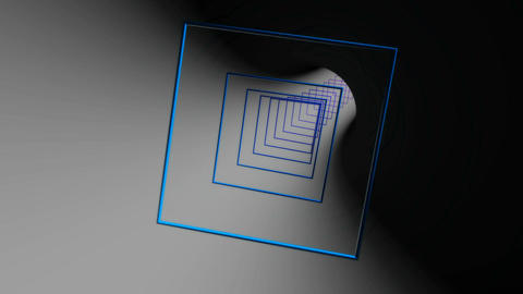 square outline reflection Stock Video Footage