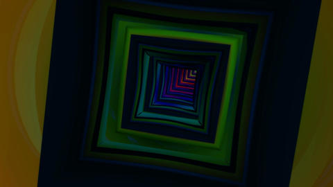 color paint tunnel Stock Video Footage