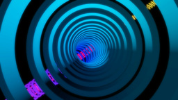 glowing rings tunnel Stock Video Footage