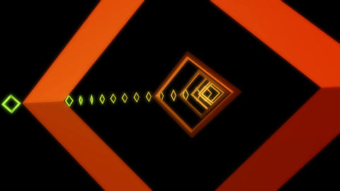 square neon glow Animation