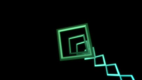 square neon glow Stock Video Footage