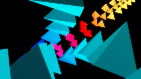 pyramid neon array Animation
