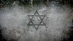 Star Of David In A Wall stock footage