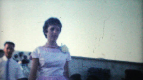High School Graduation Processional 1961 Vintage Stock Video Footage