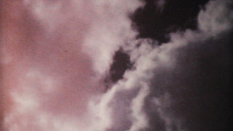 Pretty Clouds On A Summer Day 1961 Vintage 8mm stock footage