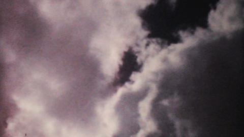 Pretty Clouds On A Summer Day 1961 Vintage 8mm Stock Video Footage