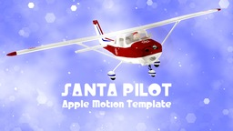 Santa Pilot - Greeting Sequence stock footage