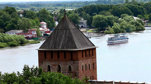 Fortress on the the River Stock Video Footage