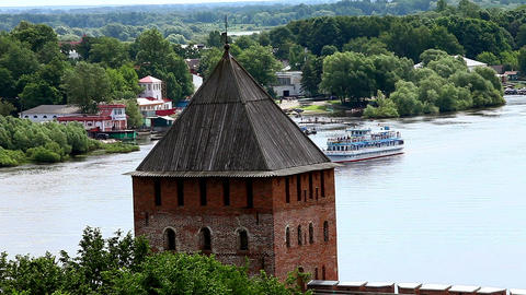 Fortress On The The River stock footage