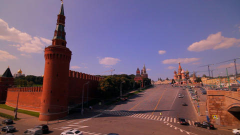 Moscow kremlin embankment Animation