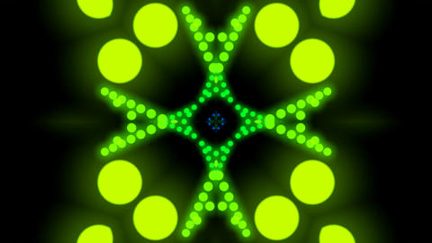 kaleidoscope dot elements Stock Video Footage