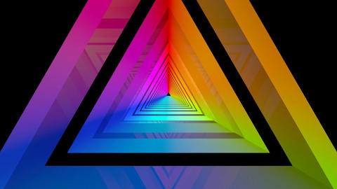glossy rainbow triangle Animation