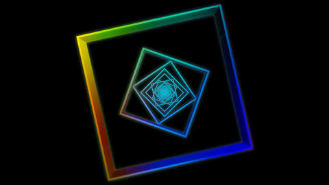 colorful square array Stock Video Footage