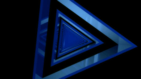 blue glass reflection tunnel Stock Video Footage