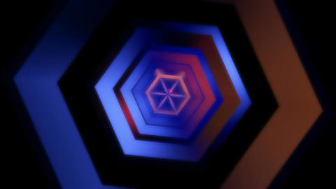 hexagonal glossy tunnel Animation