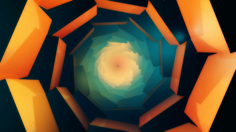 3D abstract kaleidoscope Stock Video Footage