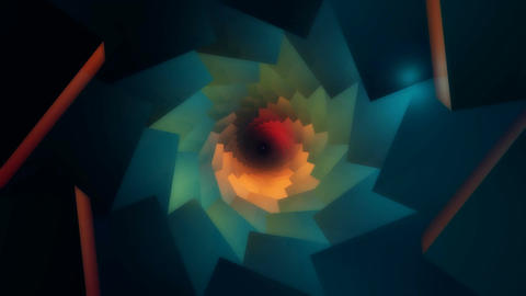 3D abstract kaleidoscope Stock Video Footage
