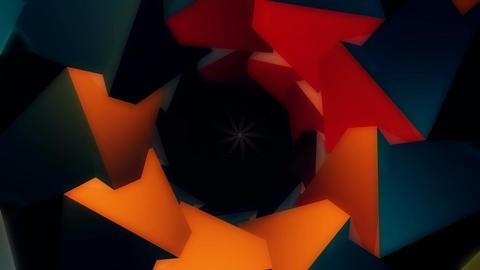 3D flower glow Stock Video Footage