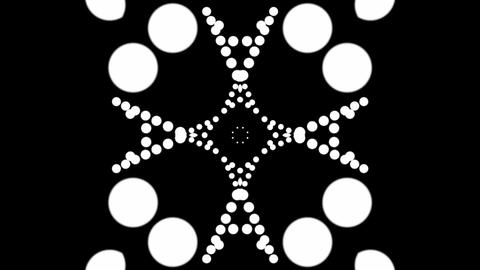 kaleidoscope matte elements Stock Video Footage
