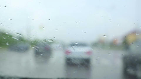Driving in the rain Footage