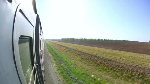 Railway journey Footage