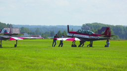 Airshow preparations Stock Video Footage