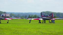 Airshow preparations Footage