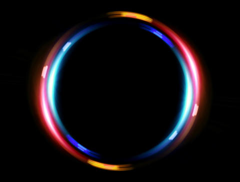 4 K Double Ring Blue Red stock footage