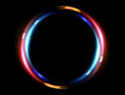 4 K double ring blue red Stock Video Footage