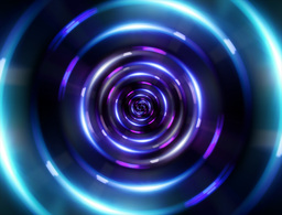 4 K ring blue tunnel Animation