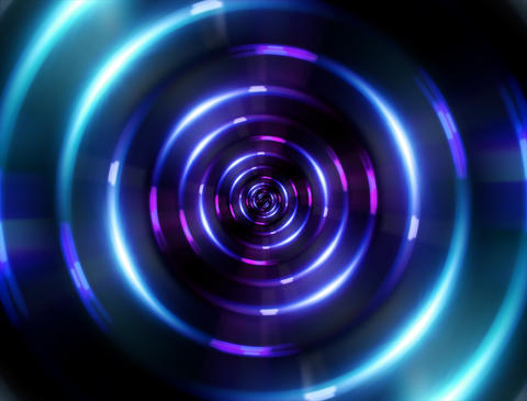 4 K ring blue tunnel Stock Video Footage