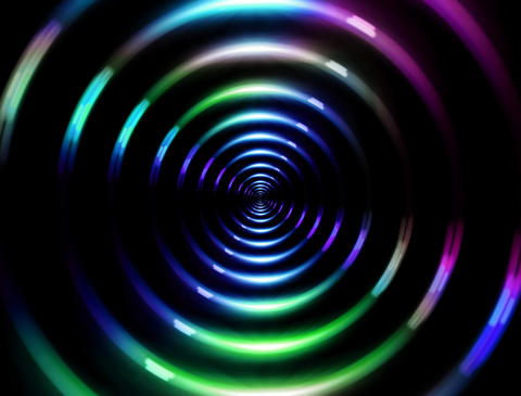 4 K ring lens flare fast color Stock Video Footage