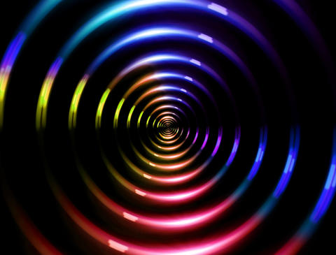 4 K ring lens flare forward color Animation